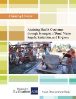 Cover for 'Attaining Health Outcomes through Synergies of Rural Water Supply, Sanitation, and Hygiene'