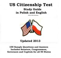 Cover for 'US Citizenship Test Study Guide in Polish and English'