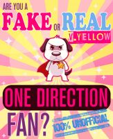 Cover for 'Are You a Fake or Real One Direction Fan? Version Yellow - The 100% Unofficial Quiz and Facts Trivia Travel Set Game'