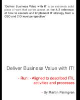 Cover for 'Deliver Business Value with IT! - Run - Aligned to described ITIL activities and processes with a Service Strategy'