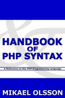 Cover for 'Handbook of PHP Syntax: A Reference to the PHP Programming Language'