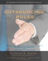 "Cover for 'Outsourcing Rules:  How To Outsource By Transforming Any Business with ""VM""-- Vendor Management for Vendors & Suppliers'"