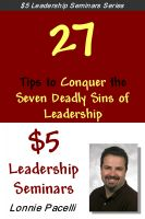 Cover for '$5 Leadership Seminars - 27 Tips to Conquer the Seven Deadly Sins of Leadership'