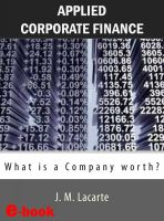 Cover for 'Applied Corporate Finance. What is a Company worth?'