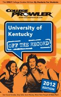Cover for 'University of Kentucky 2012'