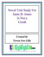 Cover for 'Novel Unit Study For Junie B. Jones is Not a Crook'