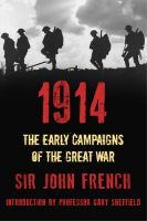 Cover for '1914: The Early Campaigns of the Great War'