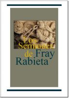 Cover for 'Los sermones de Fray Rabieta'