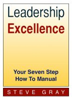 Cover for 'Leadership Excellence - Your Seven Step How To Manual'
