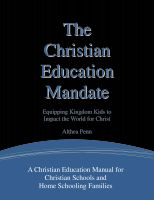 Cover for 'The Christian Education Mandate'