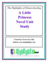 Cover for 'A Little Princess Literature Unit Study'