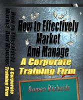 Cover for 'How to Effectively Market and Manage a Corporate Training Firm'