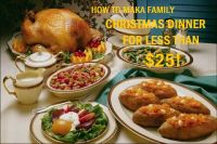 Cover for 'How to make a Family Christmas Dinner for Under $25'