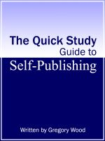 Cover for 'The Quick Study Guide to Self-Publishing'