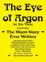 Cover for 'The Eye of Argon: Scholar's Ebook Edition'