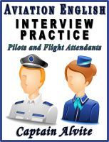 Cover for 'Aviation English Interview Practice - Pilots and Flight Attendants'