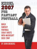 Cover for 'Excel 2007 for Fantasy Football'