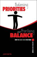 Cover for 'Balancing Priorities and Prioritizing Balance'