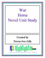 Cover for 'War Horse Novel Unit Study'