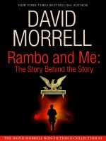Cover for 'Rambo and Me: The Story Behind the Story, an essay (The David Morrell Cultural Icon Series)'