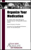 Cover for 'Organize Your Medication'