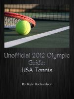 Cover for 'Unofficial 2012 Olympic Guides: USA Tennis'