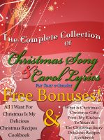 Cover for 'The Complete Book Of Christmas Song Lyrics And Christmas Carol Lyrics For Your E-Reader'