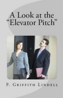 "Cover for 'A Look at the ""Elevator Pitch""'"