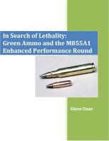 Cover for 'In Search of Lethality: Green Ammo and the M855A1 Enhanced Performance Round'