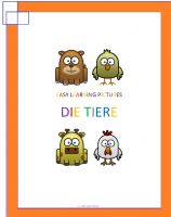 Cover for 'Easy Learning Pictures. Die Tiere'