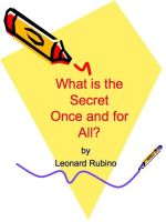 Cover for 'What is the Secret once and for all?'