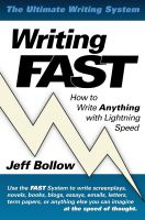 Cover for 'Writing FAST: How to Write Anything with Lightning Speed'