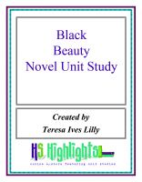 Cover for 'Black Beauty Novel Unit Study'