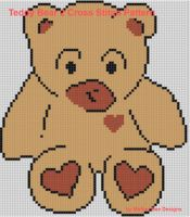 Cover for 'Teddy Bear 2 Cross Stitch Pattern'