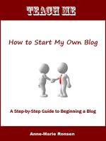 Cover for 'Teach Me How to Start My Own Blog'