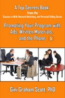Cover for 'Top Secrets for Promoting Your Program with  Ads, Written Materials, and the Phone'
