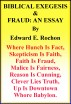 Biblical Exegesis & Fraud: An Essay by Edward E. Rochon
