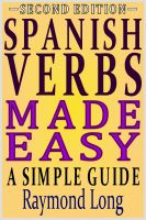 Cover for 'Spanish Verbs Made Easy: a Simple Guide'