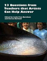 Cover for '23 Questions from Teachers that Artists Can Help Answer'