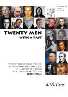 Cover for 'Twenty men with a past'