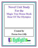 Cover for 'Novel Unit Study for the Magic Tree House Book  Hour of the Olympics'