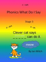 Cover for 'Phonics what do I say'