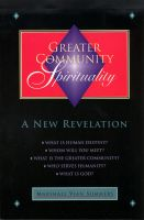 Cover for 'Greater Community Spirituality'