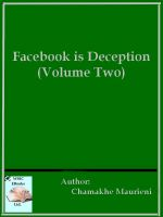 Cover for 'Facebook is Deception (Volume Two)'