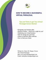 Cover for 'How to Become a Successful Virtual Paralegal Ebook'