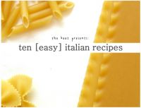 Cover for 'ten [easy] italian recipes'