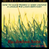 Cover for 'HOW TO MAKE $3,360 a WEEK OWNING A UNIQUE $12 LAWN SERVICE'