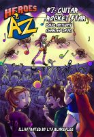 Cover for 'Heroes A2Z #7: Guitar Rocket Star'
