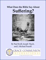 Cover for 'What Does the Bible Say About Suffering?'