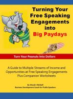 Cover for 'Turning Your Free Speaking Engagements into Big Paydays'